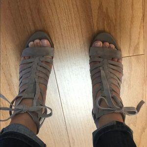 Sam Edelman strappy suede heels 7.5